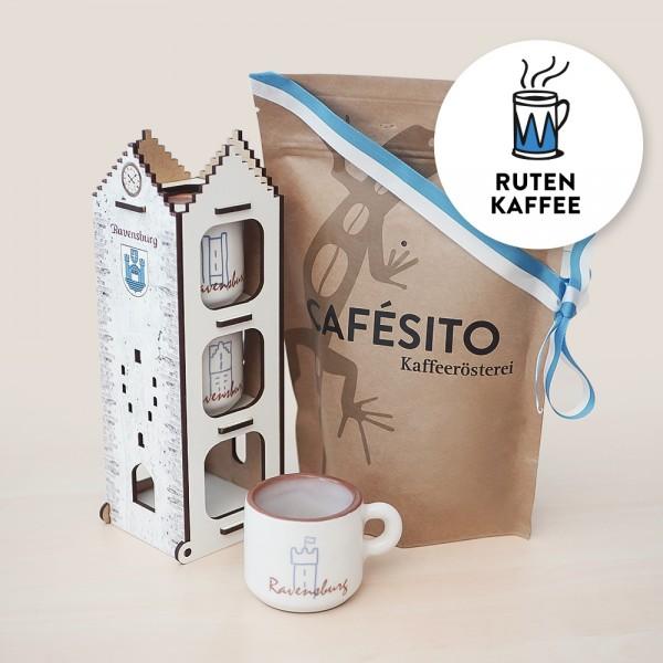 Cafesito Präsentset Turm & Rutenkaffee
